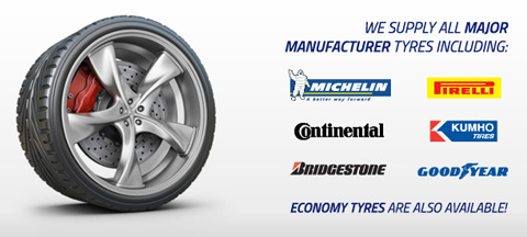All major tyres supplied